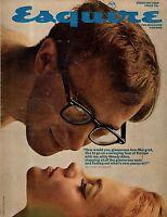 1966 Esquire February-Woody Allen,Ann-Margaret; Gay Talese; Magritte Art; Brando