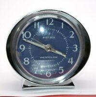 Westclox Reproduction Baby Ben Style 8 Blue Nickel Luminous Alarm Clock