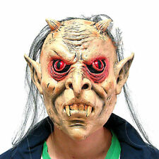 Scary Monster Halloween Mask Red Eyes Latex Mask Stage Horror Prank Props Party