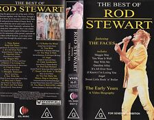 BEST OF ROD STEWART featuring THE FACES - VHS-NEW- Never played-Very rare!!- PAL