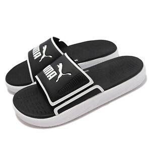 Puma Softride Slide White Black Men Slip On Sandals Slippers 382111-01