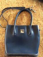 Dooney & Bourke~Vintage~Navy~Large~Handbag~Purse~tote~MINT CONDITION~MSRP $310~