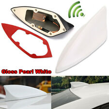 Pearl White Universal Car Shark Fin Signal Antenna Roof Radio Aerial Replacement