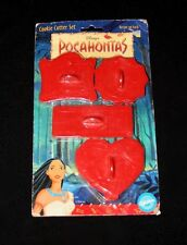 Vtg Disney Pocahontas Cookie Cutter Set of 4 Wilton Crafts Press 1995