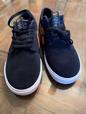 Lakai Kids Griffin Sneakers Black Blue Suede size 6 New!