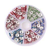 180x Rondelle Spacer Perlen Bunt für Perlen Schmuck Halskette Armband