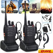 2X Baofeng Walkie Talkie Sprechfunkgeräte Handfunkgerät Set BF-888S Mit Headseat