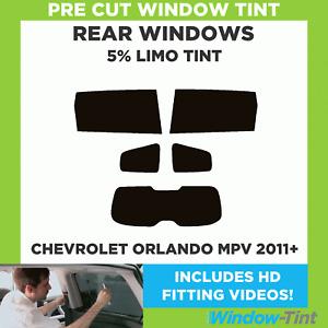 CHEVROLET ORLANDO MPV 2011+ 5% LIMO REAR PRE CUT WINDOW TINT
