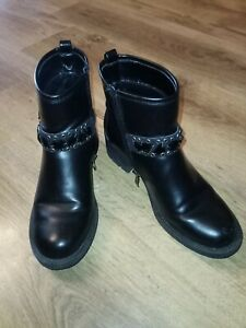 Claudia ghazzani gemmed ankle Boots Black Size 5