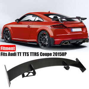 Fits Audi TT TTS TTRS Coupe 15-20 Rear Trunk Spoiler Wing Lip Real Carbon Fiber