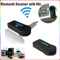 Bluetooth Wireless Audio Music Receiver Adapter For Car AUX 3.5mm Home Speaker *