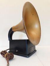 VINTAGE OLD 1920s ANTIQUE DICTOGRAPH RARE BRASS BELL RADIO HORN SPEAKER & WORKS
