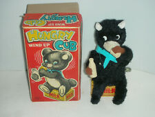 Vintage Wind Up Hungry Cub Toy in Original Box & Working In VG+ Condition