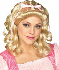 Storybook Victorian Colonial Wig Blonde Curly Adult Costume Accessory Womens New
