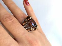 TURKISH HANDMADE RUBY TOPAZ STERLING SILVER 925K RING SIZE 6,7,8,9,10 #KD1