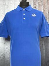 KAPPA Short Sleeve Polo Shirt Blue Cotton Retro Vintage Mens Size 2XL