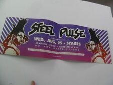 1982 STEEL PULSE Reggae Concert Banner Poster St. Louis MO Vintage Original NOS