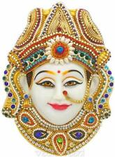 Vedic Vaani Divya Meenakari Crafted Goddess Durga MATA Maa Devi Pooja Mukhota
