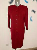 CHRISTIAN DIOR luxueux manteau laine vierge rouge vintage TAILLE 40 fr 44i NEUF