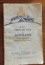 Antique RAC Circular Tour in Scotland Map Book
