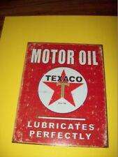 tin metal gasoline service station man cave advertising decor gas oil texaco