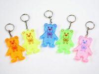 24 x Reflektorbären Katzenauge Schlüsselanhänger - Mitgebsel Kindergeburtstag