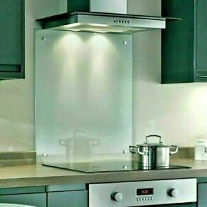 Clear Toughened Heat Resistant Splashback Glass Kitchen with Holes & Screws set