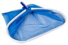 Swimming Pool Skimmer Leaf Net Rake w/Deep Debris Mesh Bag, Aluminum Frame