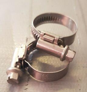 Fascetta INOX stringitubo da 16 a 27 mm con vite INOX