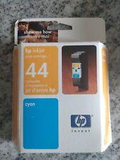 NEW Unopened Genuine HP Cyan inkjet print Cartridge 44 51644C Expired Date 5/05