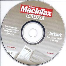 Intuit Quicken MacInTax Deluxe 1998 CD and key