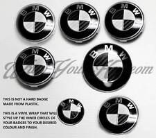BLACK & WHITE CARBON FIBER BADGE CORNERS FOR BMW M3 3 Series E90 E91 E92 E93 F20