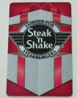 Steak 'n Shake Gift Card Sparkle Gift Red Foil Background - No Value - I Combine