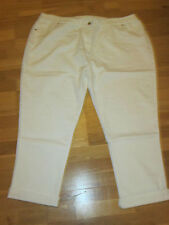 cotton traders white roll hem stretch jeans size 26 leg 27 - 30 brand new & tags