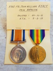 WWI PAIR TO 52ND BN SOLDIER - DANGEROUSLY ILL PNEUMONIA - RTA 1919