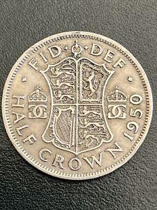 1950 George VI Half Crown Coin