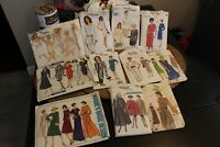 Vogue Vintage Sewing Pattern's  1940-1970 price  individually