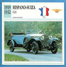 SCHEDA TECNICA AUTO DA COLLEZIONE - HISPANO SUIZA H6B 1905-1914