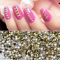 1000PCS 3D Design Metallic Gold Studs Nail Art Decoration Sticker Nail DIY An340