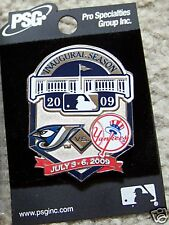2009 Yankee Stadium 1st Toronto Blue Jays vs NY N.Y. New York Yankees lapel  pin