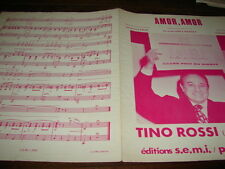 TINO ROSSI - Amor, amor - PARTITION !!!!!!!!!!!!!!!!!!