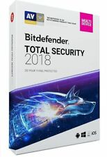 Bitdefender TOTAL SECURITY 2018, 5 Multi-Devices 1 Year LATEST RETAIL DVD CASE
