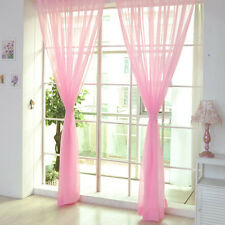 1/2pcs Home Decor Tulle Voile Window Drape Panel Sheer Scarf Valances Curtain Pink 1 PC
