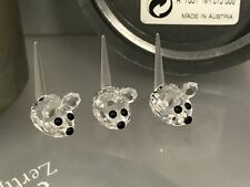 Swarovski Figur 3 Mäuse je 2,5 cm. Mit Ovp & Zertifikat. Top Zustand