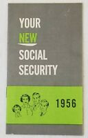 Vintage Your New Social Security 1956 Pamphlet Booklet Rare