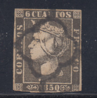 ESPAÑA (1850) USADO SPAIN - EDIFIL 1A (6 cu) ISABEL II - LOTE 1