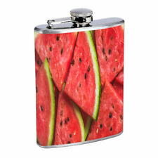 Watermelon Em2 Flask 8oz Stainless Steel Hip Drinking Whiskey
