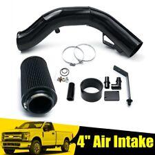 Black 4'' Cold Air Intake Kit For Ford F-250/350 Excursion 6.0L V8 Diesel 03-07