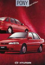 Hyundai Pony limited edition Prospekt 1/94 brochure 1994 Auto Pkw Korea Werbung