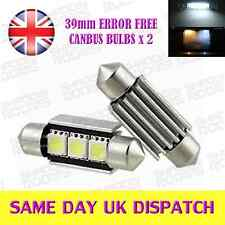 3 LED SMD 39mm C5W 239 Canbus Bulbs Xenon White (Pair)
